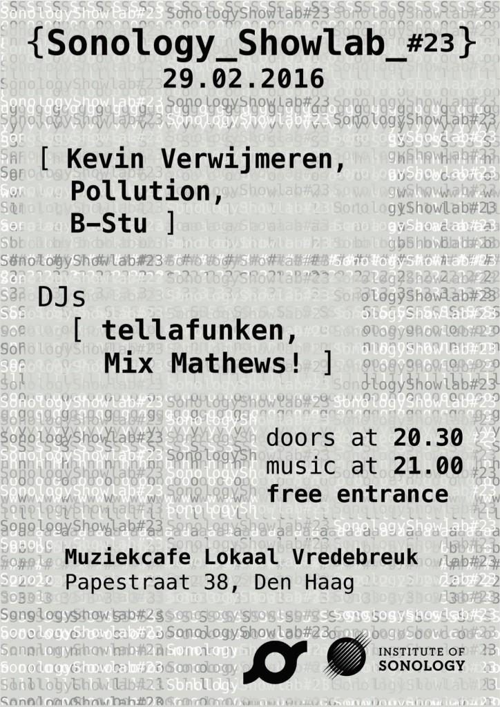 Kevin Verwijmeren - Sonology ShowLab